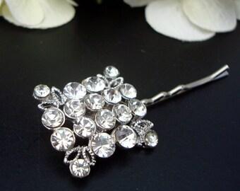 Bridal Rhinestone Hair Pin,Bridal Jewelry,Wedding Rhinestone Hair Pin,Silver Rhinestones Hair Pin,Wedding Rhinestone Hair Pin,Jewelry,JAN