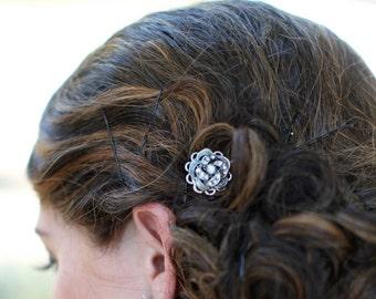 Bridal Hair Pin, Rhinestone Rose, Victorian Style, Wedding Hair Pin, Bridal Rhinestone Hair Pin, Wedding Rhinestone Hair Pin, ROSELANI