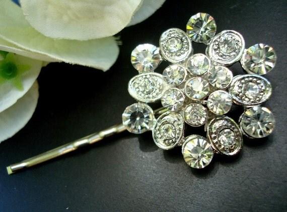 ANNIE Silver Rhinestone Hair Pin