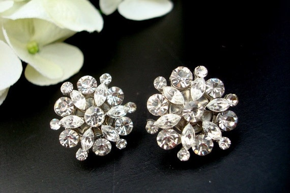 Bridal Earrings, Bridal Rhinestone Earrings, Stud, Bridal Statement Earrings, Wedding Rhinestone Earrings, crystal earrings, ALEXANDRA