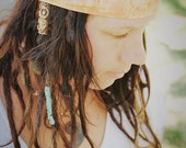 Mango Batik Wrap, size M or L - yoga headband, dreadlock wrap: Gypsy Wraps by Julie Bartel