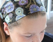 Gypsy Wrap by Julie Bartel:  Deja Vu Narrow Headband, size M or L  - yoga headband, dread wrap