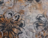 Grey Garden Batik Gypsy Wrap, size M or L:  Yoga Headband, head scarf, dread wrap