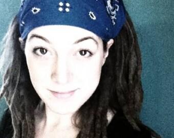 Gypsy Wrap by Julie Bartel, Bandana  Wrap, size M or L  - yoga headband, dread wrap, head scarf