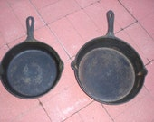 Two Cast Iron Frying Pans - collection L