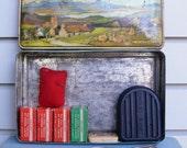 Vintage Tin with Shoe Repair Kit