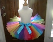 Tutu, Toddler Tutu, Birthday Tutu, Candyland Rainbow Tutu