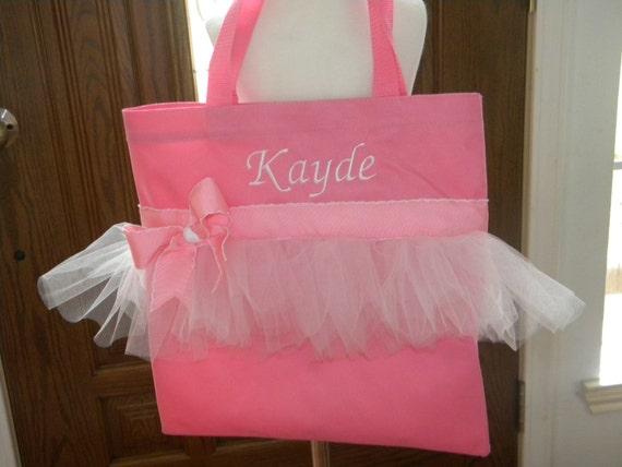 Tote Bag , Tutu Dance Bag/Diaper Bag