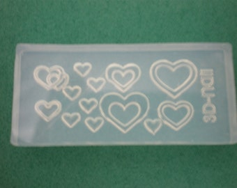 M8 Flexible Mold/Mould - 12 in 1 - Candy Hearts and Love for Making Miniature Food / Doll House Deco / Jewelry Making /Nail Art