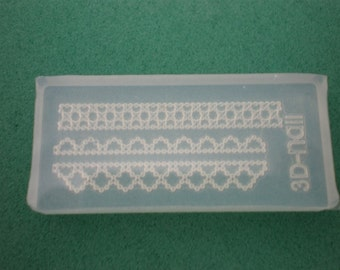 M7 Flexible Mold/Mould - 3 in 1 - Lace Trimmings for Making Miniature Food / Doll House Deco / Jewelry Making /Nail Art