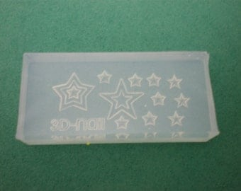 M20 Flexible Mold/Mould - 11 in 1 - Stars for Making Miniature Food / Doll House Deco / Jewelry Making /Nail Art