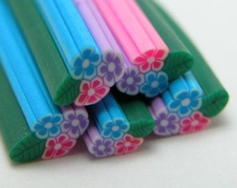S077 Tiny Spring Blossom - Polymer Clay Cane for Miniature Food Deco and Nail Art