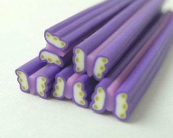 S166 Graceful Butterfly (Romantic Violet Purple) - Polymer Clay Cane for Miniature Food Deco and Nail Art