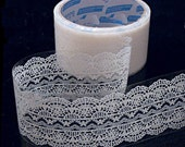 Lace Tape-Deco Tape-Victorian White Lace Deco Tape-Japanese Tape-Perfect for Valentines Day