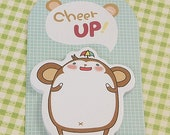 Cute Balloon Monkey Sticky Notes-Post It-Memo Note-Paper Pad-Organization-Paper Pad