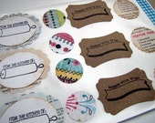 Stickers-Labels-Kitchen Theme- Hand Made By Labels-Tags-Gift Wrapping-Packaging