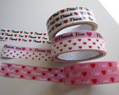 Deco Tape-Tape-3 roll set of Thank you Deco Tape