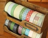 Washi Tape Dispenser Tool-Wooden Organizer-Tape Dispenser Tool for dispensing washi tape-Japanese Masking Tape Organizer-Tape Holder