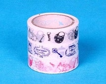 Deco Tape-3 roll set-vintage keys and Hearts-Tape-Embellishment-Scrapbooking-Packaging-Japanese Tape