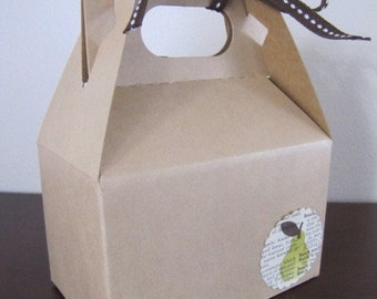 Brown Kraft Gable Box for Packaging-Wedding Favor-Gift Wrapping 4 x 2.5 x 2.5