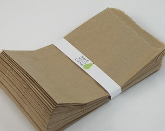 kraft sack Merchandise Bags kraft bag brown bag set of 50 8 x 5