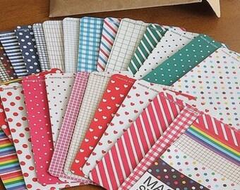 Washi Tape Stickers-Japanese Masking Tape Sticker Set-Basic Colors-27 sheets per set