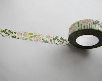 Washi Tape- Masking Tape-Washi Tape-Single Roll-Pretty Garden