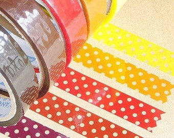 Japanese Tape-Deco Tape-5 roll Set- Polka Dots