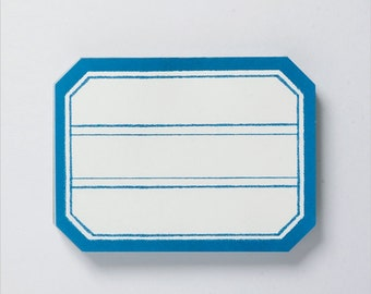 Labels-Blue Frame-Scrapbooking Embellishment-Organizing-Set of 80-Journaling Spot