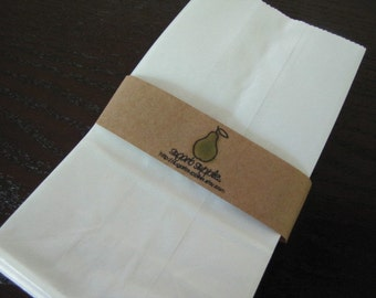 White Kraft Paper Grocery Style Paper Bags-Packaging-Favor Bags-Wedding Candy Bar Bags
