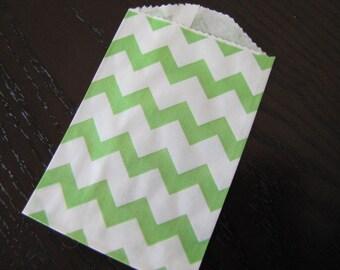 Paper Bag-Bitty Bag-Favor Bag-Treat Bag-Set of 10 Chevron Striped Bags-2.75 x 4