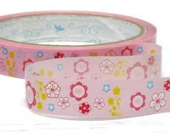 Tape- deco tape-Flowers-Sticker Tape-Packaging-Wrapping-T