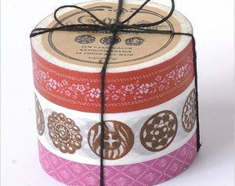 Washi Tape-Masking Tape-Japanese Tape-Coffret du Courturier-3 roll tape set