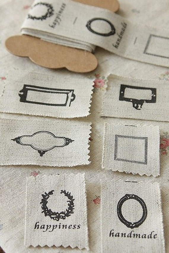 Vintage Style Linen Fabric Label Tape-Sewing Labels-1 yard