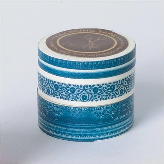 Tape-Masking Tape-Washi Tape-Frame Tape-Bright blue