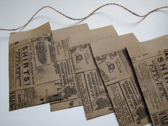 Kraft-Vintage Style Envelopes-Stationary-Kraft Paper-Packaging