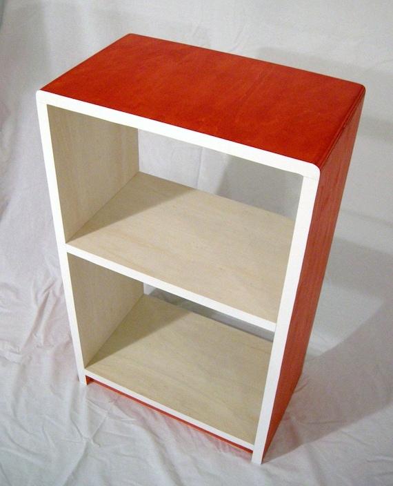 Inspired CABINET SHELVING - Bookshelf, Night Stand, Storage, Shelf, - Modern, Fun, Orange