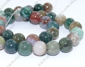 Charm 12mm  round india agate stone beads loose strand