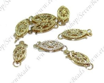 10 pcs Elegant Gold Plated 6x11mm ,clasp findings