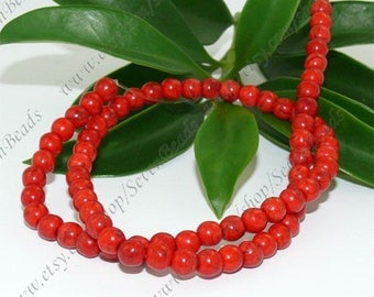 10mm red turquoise round stone beads,loose beads full strand 16inch 40beads