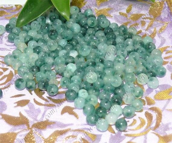200pcs charm green jade beads,stone beads,loose beads 5mm
