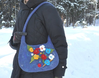 felted bag Summer-- Ready to Ship now