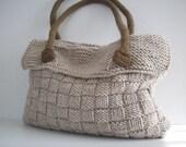 NzLbags NEW Everyday Knitted Bag, Shoulder Bag, Handbag - Beige Nr - 075