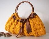 SHOULDER Bag, %10 off Sales Coupon Code - Handbag Everyday Knitted Yellow Bag Nr.0100
