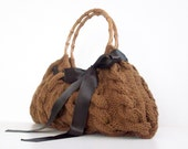 SALE OFF 15% SHOULDER Bag, Handbag Everyday Knitted Copper Brown Bag Nr.0111