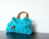 SALE OFF 15% NzLbags New - Aqua Beauty Knit Bag, Handbag - Shoulder Bag Nr-0131
