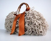 Crochet Bag NzLbags Handmade, Everyday Bag, Crochet Shaggy women bag, fall autumn color fashion,christmas gift idea