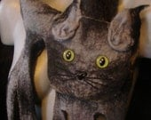 """Felted scarf  """"Grey Cat"""" reserved for Kumin"""