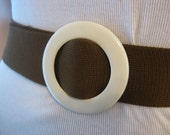 Vintage 1960s Brown Woven Fabric Belt