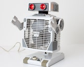"Vintage 1986 ""Robo"" Robot-Shaped Fan, Working, Oscillating"
